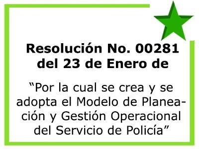 Resolución No. 00281 del 23 de Enero de 2018