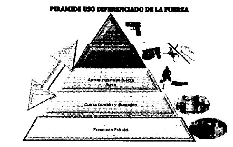 PIRAMIDE USO DE LA FUERZA